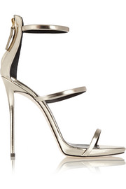 Giuseppe Zanotti Coline metallic leather sandals