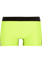 Neon stretch-jersey shorts