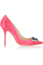 Sophia Webster Lola Gem embellished satin pumps
