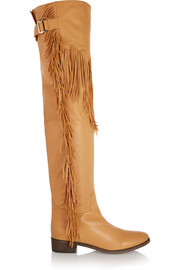 See by Chloé Fringed leather over-the-knee boots
