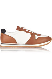 See by Chloé Leather and mesh sneakers