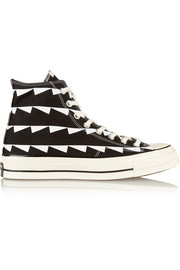 Converse Chuck Taylor All Star printed canvas high-top sneakers