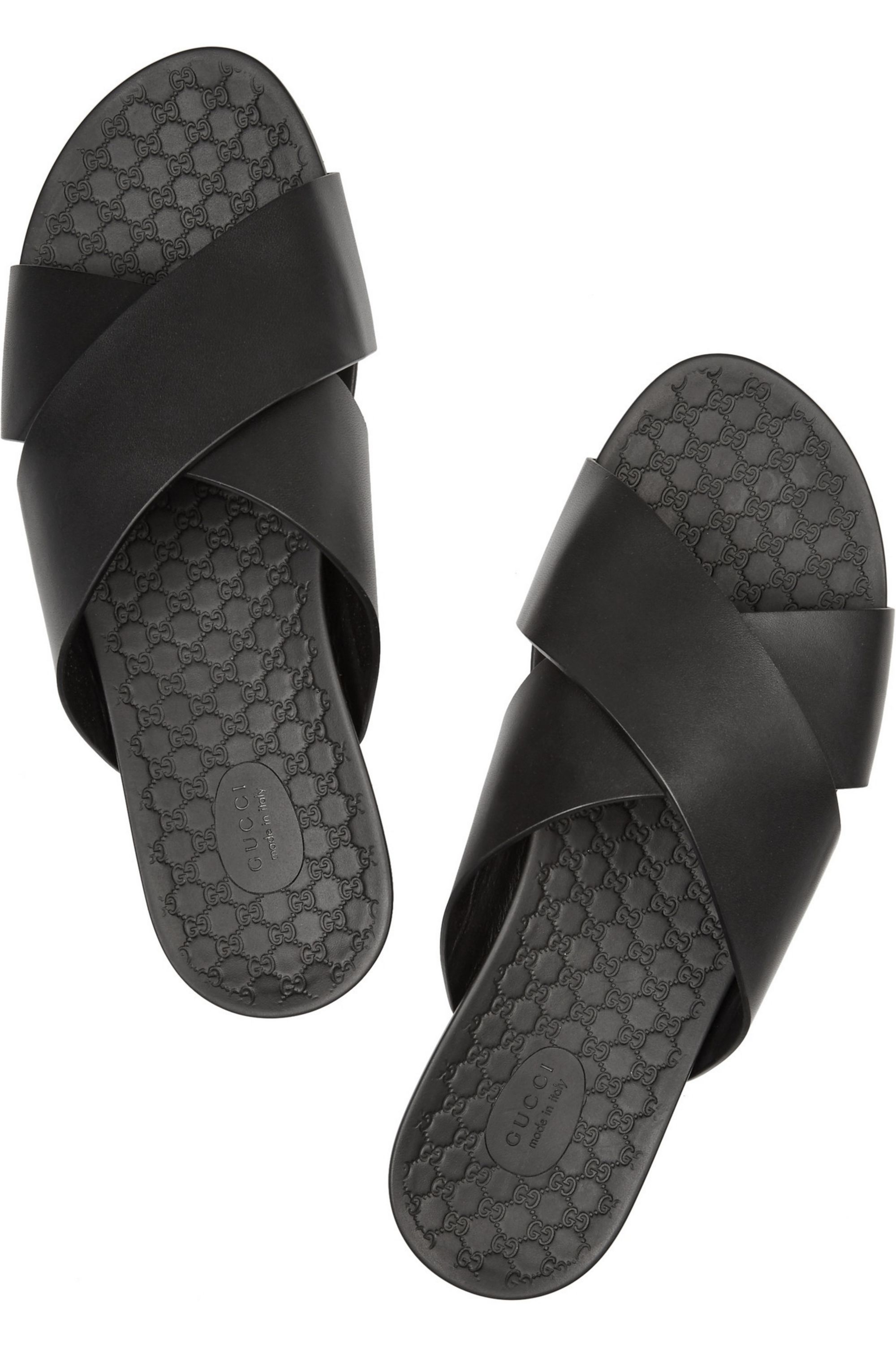 Gucci Leather slides