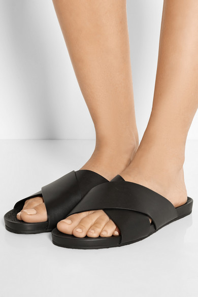 Gucci | Leather slides | NET-A-PORTER.COM