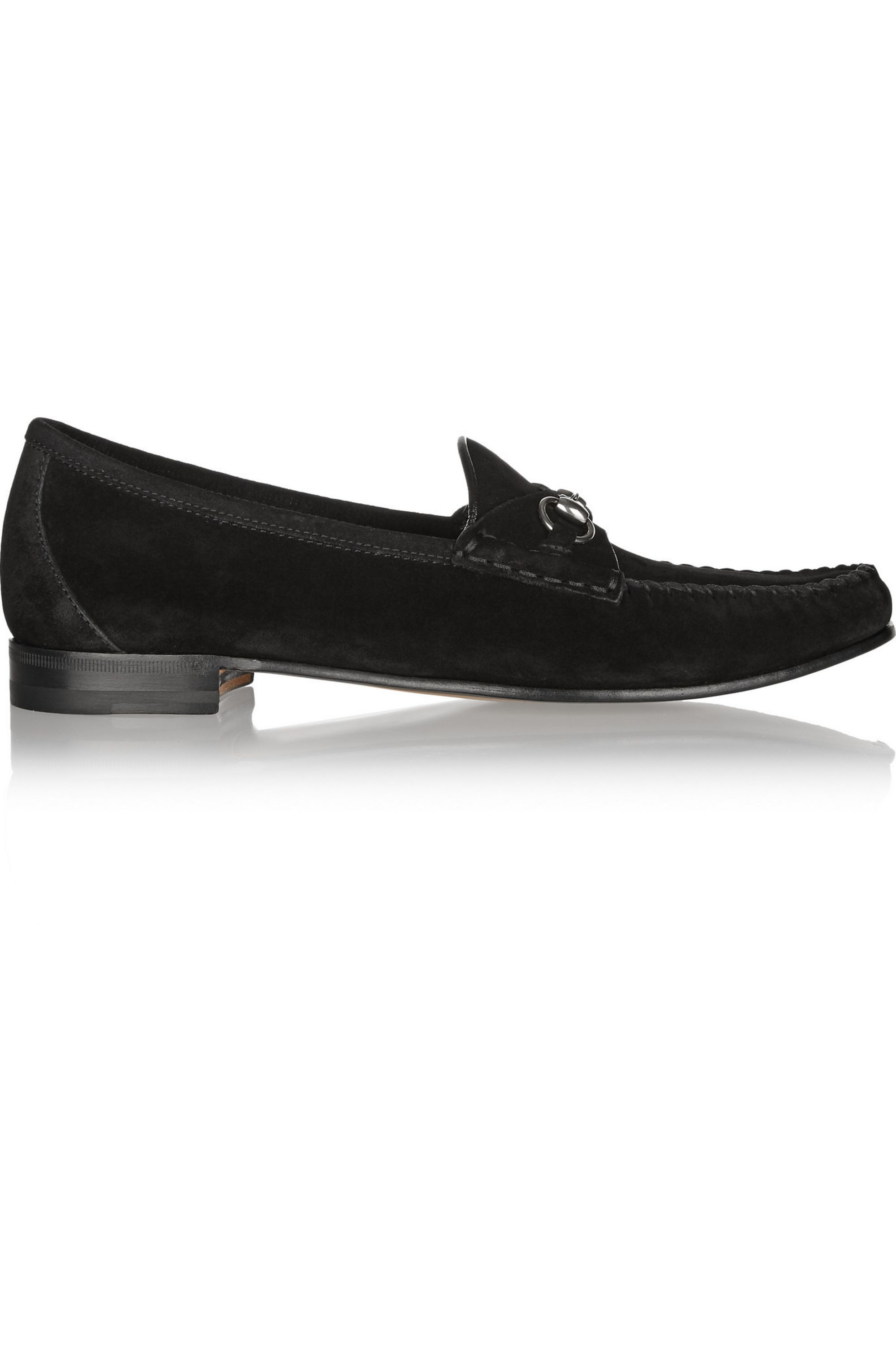 Gucci Horsebit-detailed suede loafers