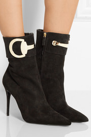 Gucci Horsebit-detailed suede ankle boots