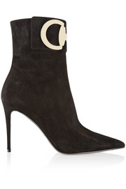 Horsebit-detailed suede ankle boots