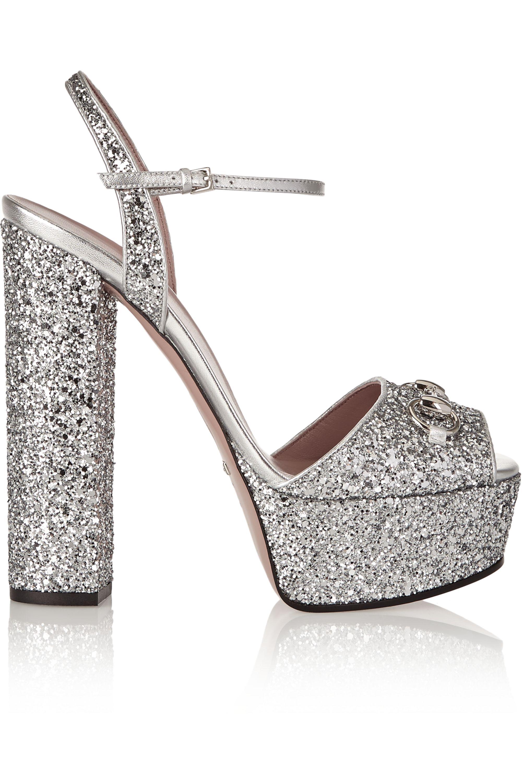 Silver Horsebit-detailed glitter