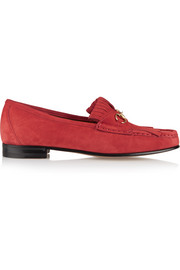 Gucci Horsebit-detailed fringed suede loafers