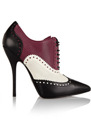 Gucci Color-block textured-leather ankle boots