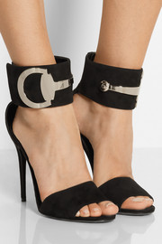 Rooney horsebit-detailed suede sandals