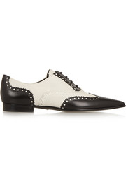Perforated leather brogues
