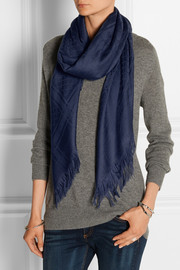 Survie wool and silk-blend jacquard scarf