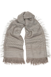 Survie wool and silk-blend scarf