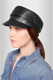 Gucci Embellished leather cap