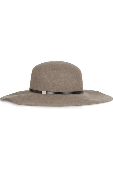 Gucci - Wide-bri Rabbit-felt Hat - Gray