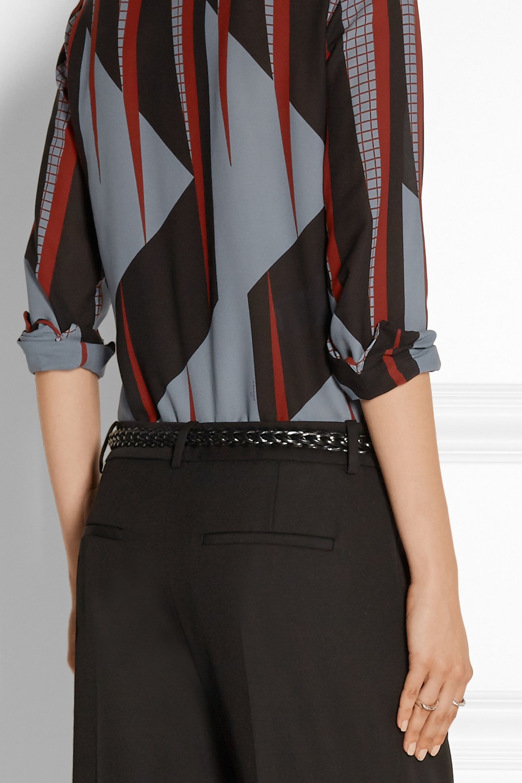 Gucci Braided leather belt