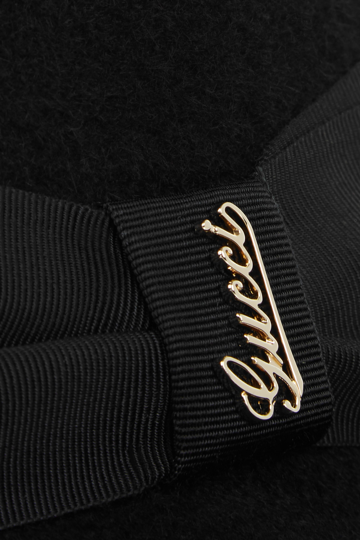 Gucci Trilby aus Kaninchenfilz mit Ripsbandbesatz