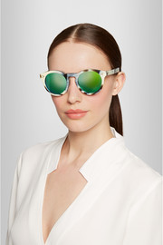 Leonard II round-frame acetate mirrored sunglasses