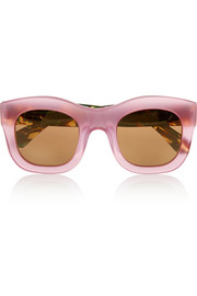 Hamilton D-frame acetate mirrored sunglasses