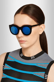 Boca cat-eye acetate mirrored sunglasses