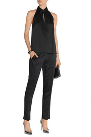 Jason Wu Crepe de chine tapered pants