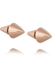 Rose gold-plated cone earrings