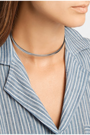 Safety Chain silver-plated choker