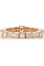 Rose gold-plated agate bracelet
