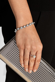 Silver-plated pearl bracelet