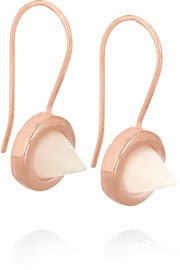 Rose gold-plated agate earrings