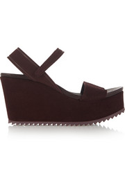 Dorothy suede wedge sandals
