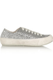 Parson glitter-finished suede sneakers