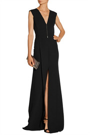 Victoria Beckham Silk and wool-blend crepe gown