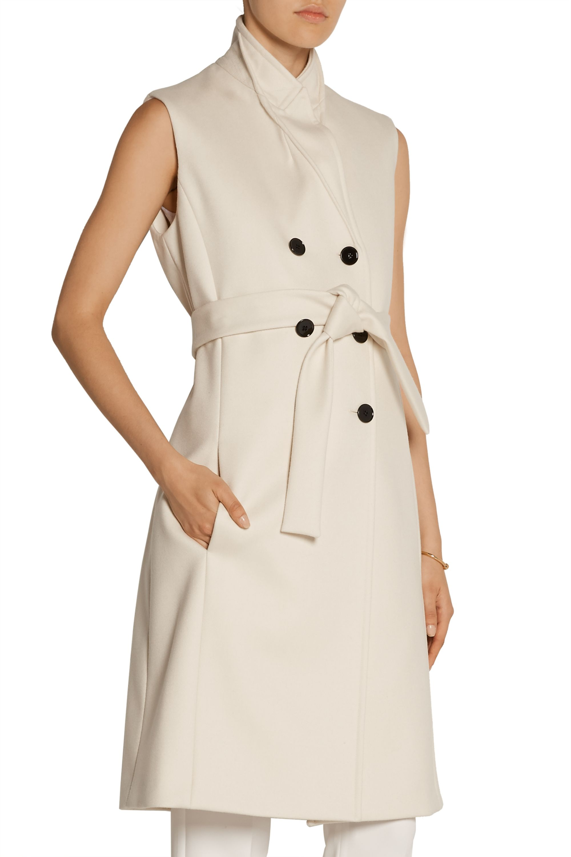 Victoria Beckham Double-breasted wool-twill gilet
