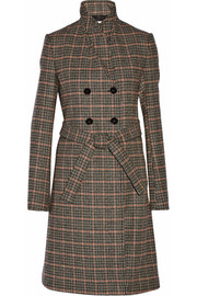 Victoria Beckham Double-breasted checked wool coat