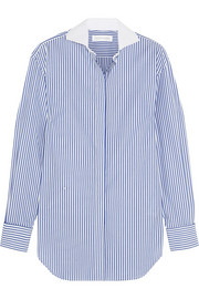Victoria Beckham Striped cotton-poplin shirt