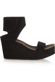 Darla suede wedge sandals