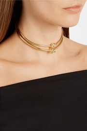 Jennifer Fisher Knot gold-plated choker
