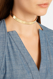 Jennifer Fisher Flat Plate gold-plated choker
