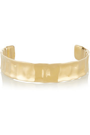 Crinkle gold-plated choker