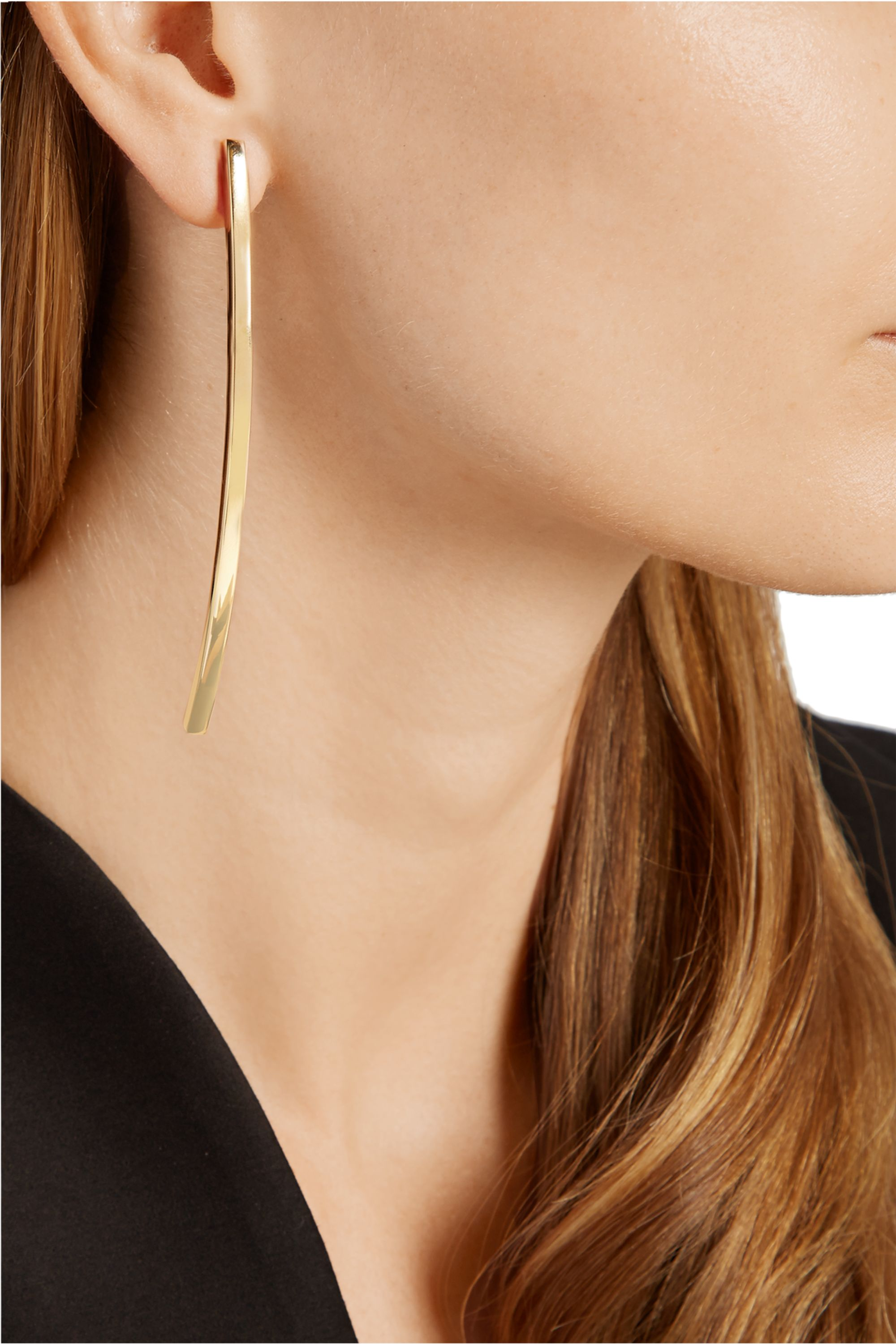 Jennifer Fisher Large Bend gold-plated earrings