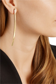 Large Bend gold-plated earrings