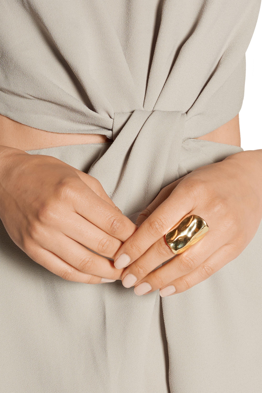 Jennifer Fisher Crinkle gold-plated ring