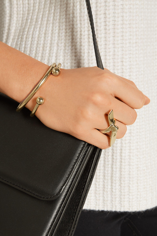Jennifer Fisher Single Ribbon gold-plated ring