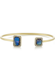 18-karat gold, boulder opal and diamond cuff