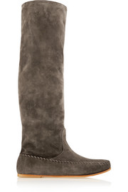 Tomas Maier Suede knee boots
