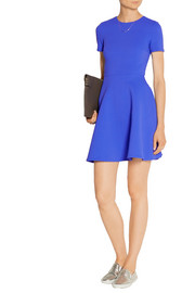 Puckered stretch-jersey mini dress