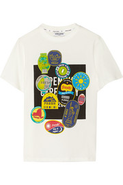 Fruit Sticker printed cotton-jersey T-shirt