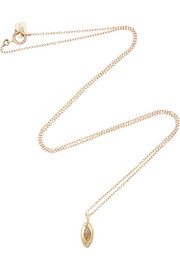 10-karat gold, opal and diamond necklace